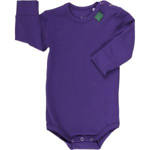 Alfa Langarmbody violett - Green Cotton