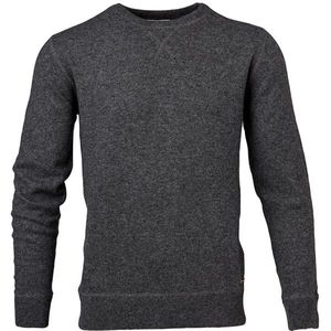 O-Neck Knit W/Flatlock Details - Dark Grey Melange - KnowledgeCotton Apparel