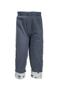 Wendehose - dunkles blau geringelt - People Wear Organic