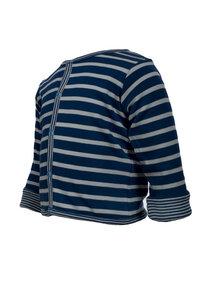 Wendejacke - dunkles blau geringelt - People Wear Organic