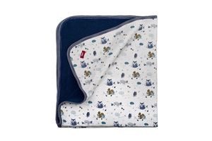 Decke - dunkles blau/ All Over Print - People Wear Organic