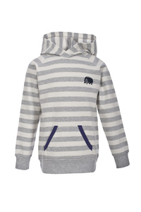 Sweatshirt - helles grau geringelt - People Wear Organic