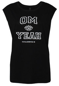 Yoga Top Om Yeah | schwarz - Natural Born Yogi