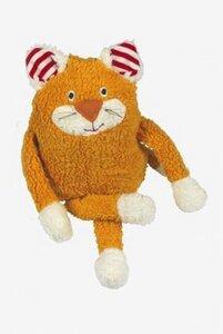 Katze Mia mit Wollsäckchen befüllt gelb Plüsch Bio Baumwolle - Lana naturalwear