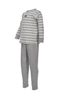 Pyjama - helles grau geringelt - People Wear Organic