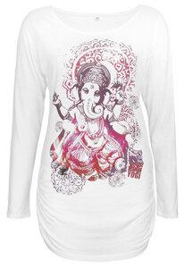 Langarmshirt deluxe Groovy Ganesha - Natural Born Yogi