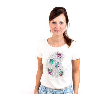 Jungle Life Sloth - Printshirt Frauen aus Biobaumwolle - Coromandel