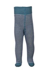 Strumpfhose - helles blau geringelt - People Wear Organic