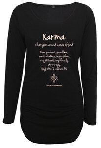 Langarmshirt deluxe Karma | schwarz - Natural Born Yogi