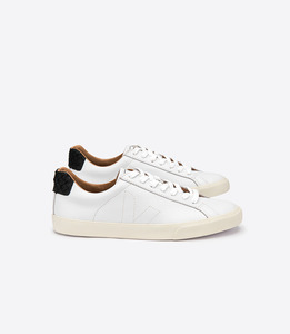 ESPLAR LT BASTILLE LEATHER TILAPIA - EXTRA WHITE BLACK - Veja