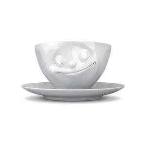 Dreidimensionale glückliche Porzellan Tasse - FIFTYEIGHT PRODUCTS