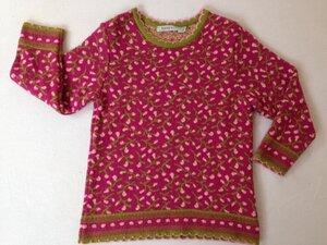 Jacquard-Strickpullover pink - Lana Kids