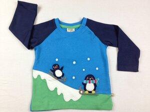Henry Raglan Top Penguin blau - Frugi