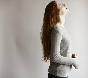 V-Neck Sweater Alpaka - light grey  - Les Racines Du Ciel