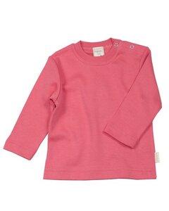 Baby Langarmshirt Peach - Lana naturalwear