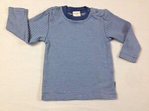 Basic Langarmshirt blau gestreift - Lana naturalwear