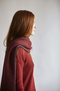 V-Neck Sweater Alpaka - red - Les Racines Du Ciel