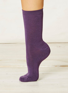 Solid Jackie Socks-Purple - Thought | Braintree