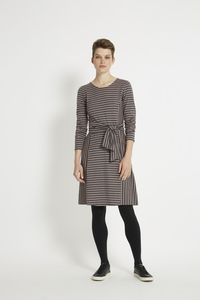 Adina Dress - Pink Stripe - People Tree