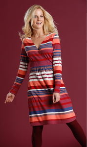 Baumwoll Jerseykleid geringelt - multi/hummer - Madness
