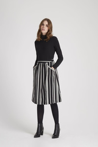 Hesper Stripe Skirt - Black - People Tree