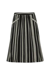 Hesper Stripe Skirt - Black - People Tree