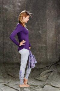 Langarmshirt-Violett - People Wear Organic
