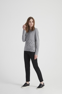 Adeline Top - Grey Melange - People Tree