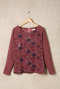 Baumwoll Sweatshirt mit Reißverschluss - Mauve - Madness