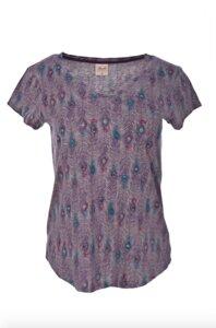T-shirt-Grau Melange gemustert  - People Wear Organic