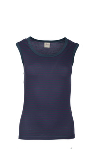 Tanktop-Violett geringelt  - People Wear Organic