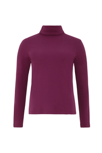 Organic Roll Neck Top - Berry - People Tree