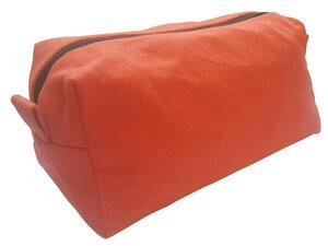 Kosmetiktasche Orange, Upcycling von Leesha Design - Leesha