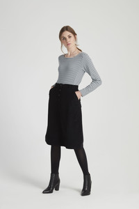Uma Corduroy Skirt - Black - People Tree