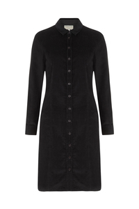 Verena Corduroy Shirt Dress - Black - People Tree