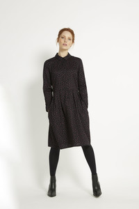 Shelby Shirt Dress - Black - People Tree