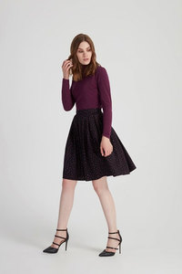 Selma Flared Skirt - Black - People Tree