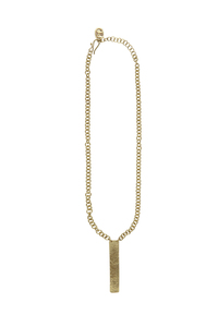 Minimal Post Necklace - Brass - People Tree