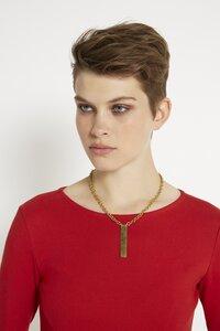 Minimal Post Necklace - Brass - People Tree