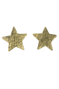 Star Stud Earrings - Brass - People Tree