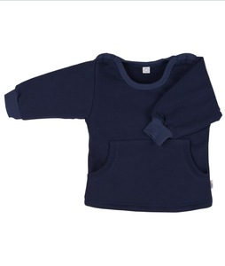 Baby Sweatshirt dunkelblau Bio Baumwolle - iobio