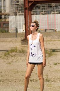 Gin Love Tank Top - WarglBlarg!