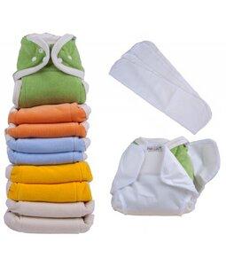 OneSize Rainbow Set Frottee Soft Saugwindeln Popolini 85% kbA Baumwolle, 15% Polyester - Popolini