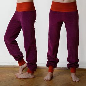 Damen Wohlfühlhose und Yogahose in berry/rot - Cmig