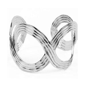 'Shimmery Wave' Armreif - Silber - Kalakosh