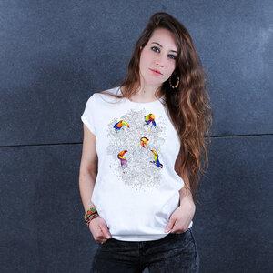 Jungle Life Toucan - Printshirt Frauen aus Biobaumwolle - Coromandel