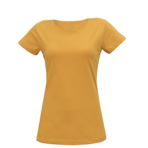 Damen T-Shirt in gelb - Fairtrade & GOTS zertifiziert - MELAWEAR