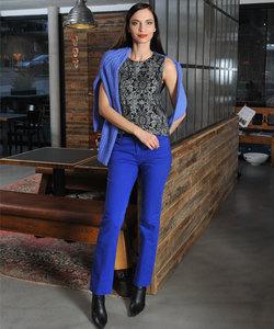 Alma & Lovis Twill Pants orient blue - Alma & Lovis