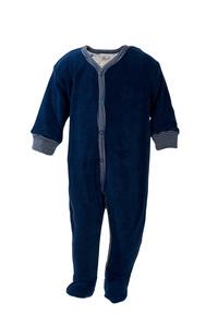 Frotteestrampler - dunkles blau - People Wear Organic