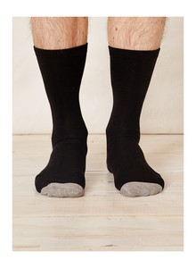 SOLID JACK SOCKS - BLACK - Thought | Braintree